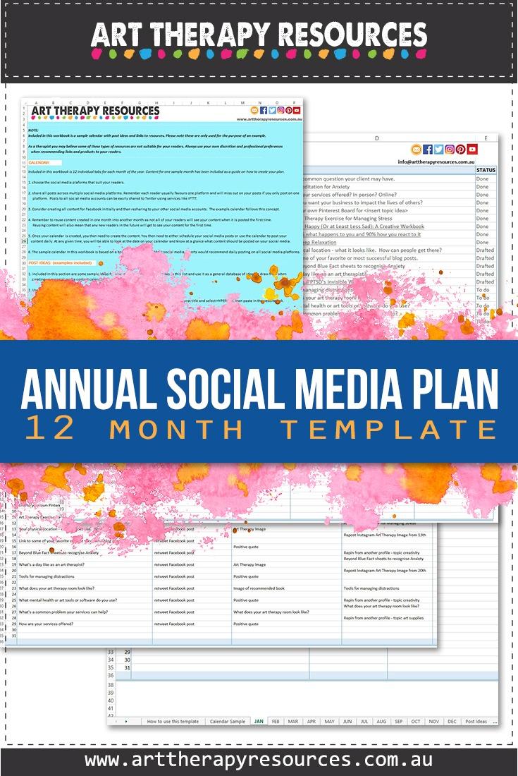 Annual Social Media Plan