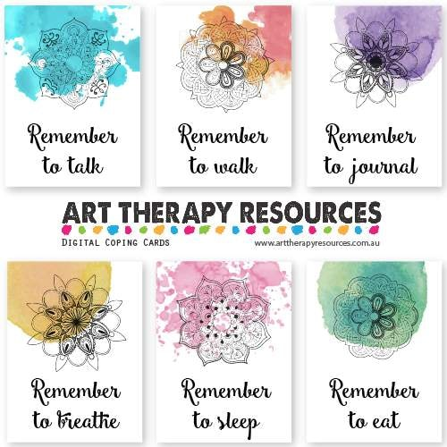Art Therapy Digital Coping Cards
