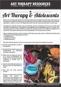 Art Therapy Exercise Adolescents