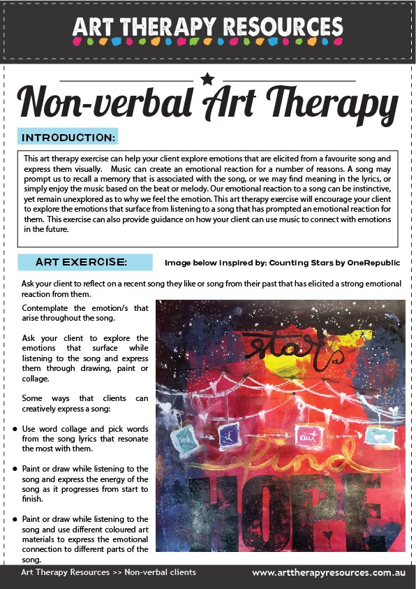 Art Therapy Exercise for Non-verbal Client