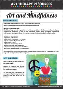 Developing Mindfulness Art Therapy Guide - Benefits