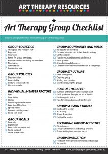 FREE Art Therapy Group Checklist