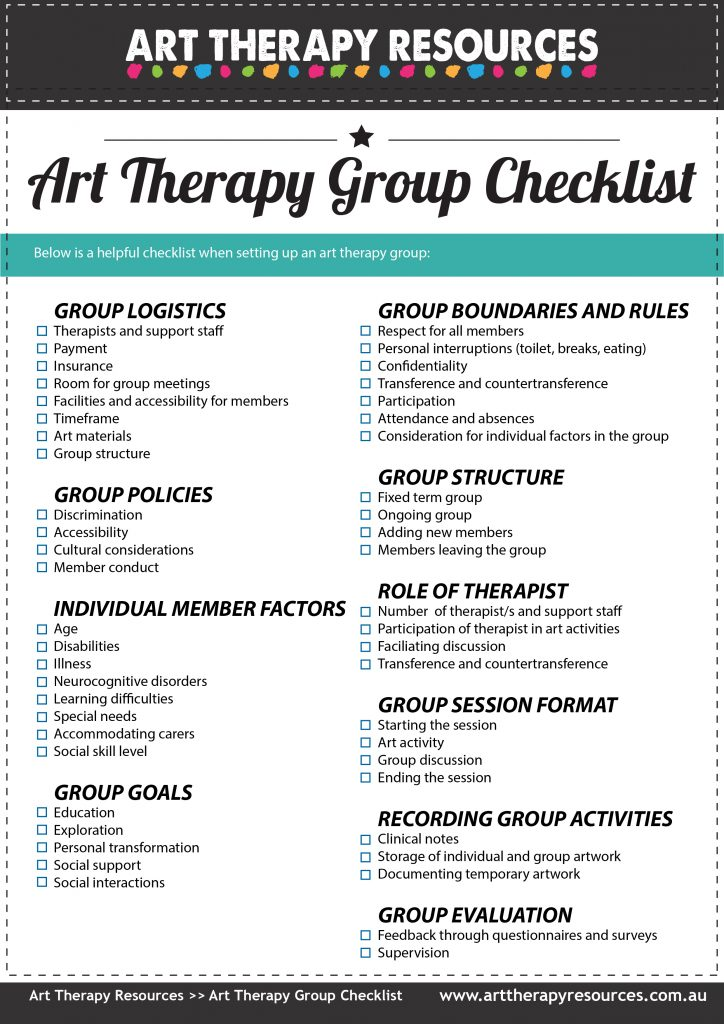 Art Therapy Group Checklist