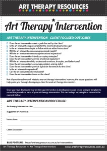 Art Intervention Checklist
