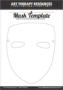 FREE Art Therapy Mask Template