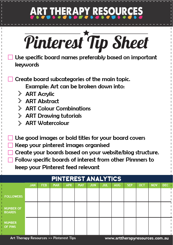 Art Therapy Pinterest Tips