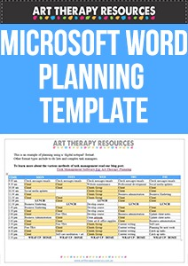Art Therapy Planning Template Word