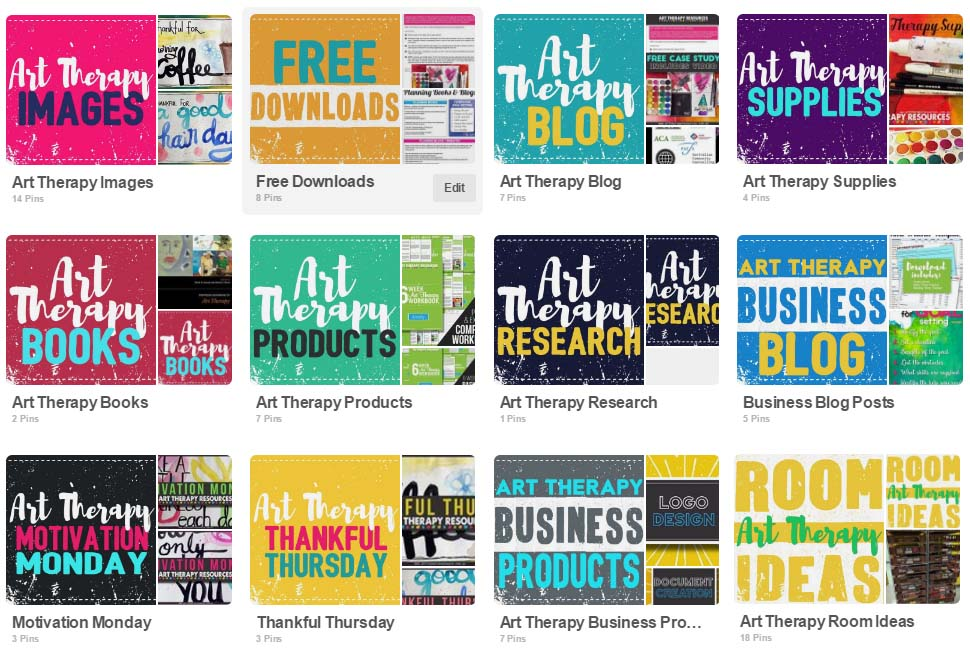 Art Therapy Resources Pinterest Boards