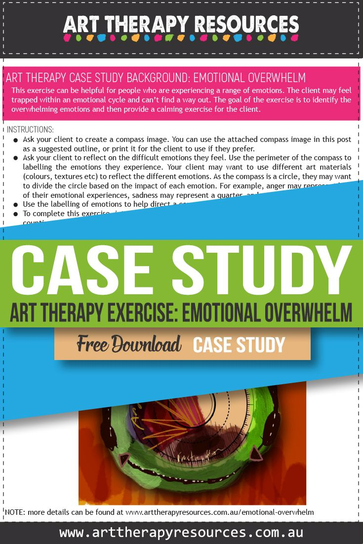 Case Study: Art Therapy for a Client with Emotional Overwhelm