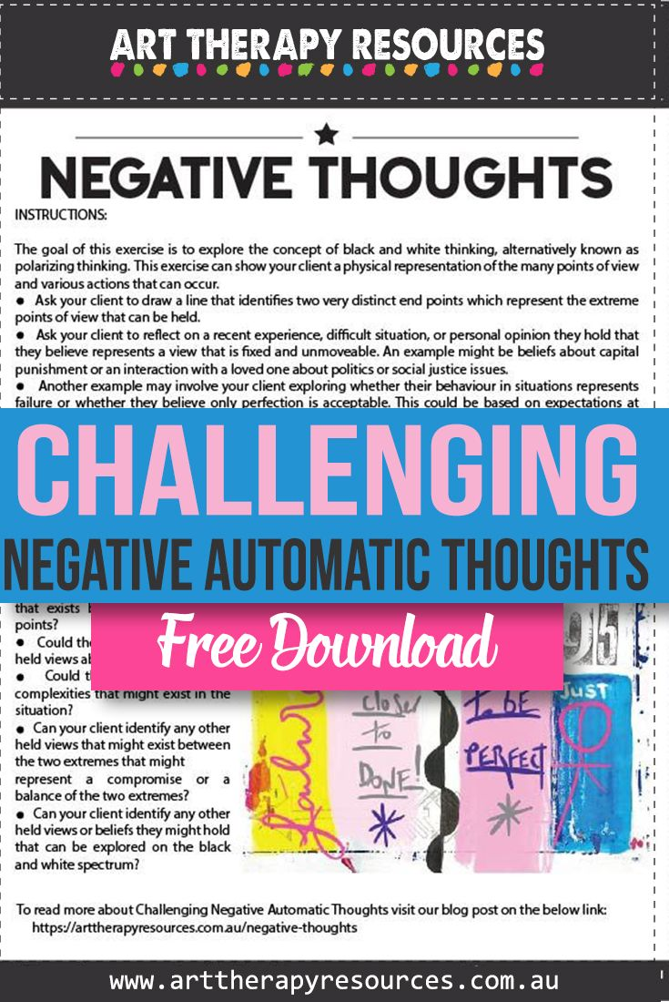 Challenging Negative Automatic Thoughts With Art Therapy