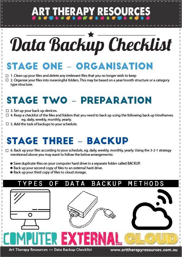 Data Backup Checklist
