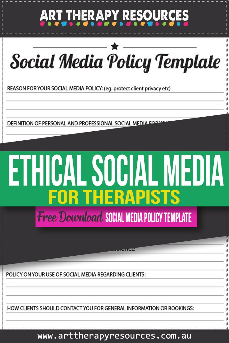 Ethical Posting on Your Social Media Pages as a Therapist
