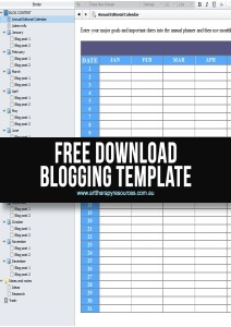 Free Scrivener Blogging Template