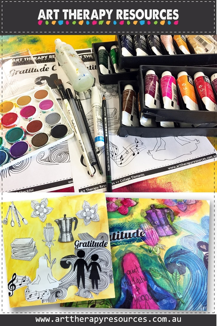Art Therapy Resources Collage