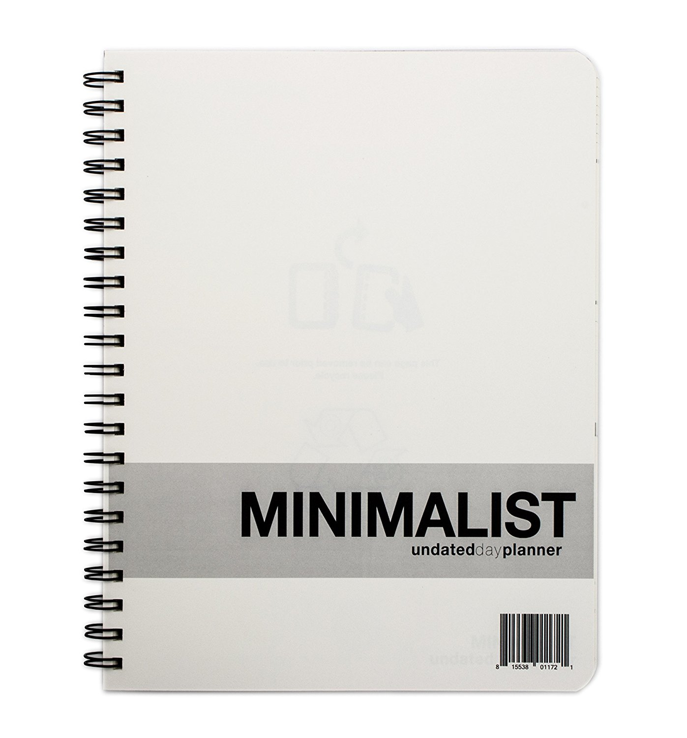 MINIMALIST Undated Large Day Planner