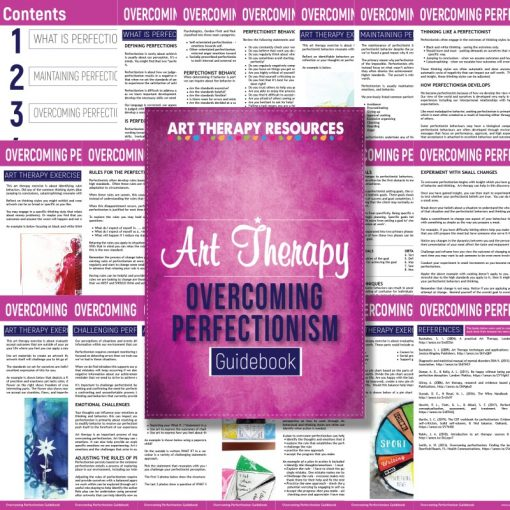 Overcoming Perfectionism Art Therapy Guidebook