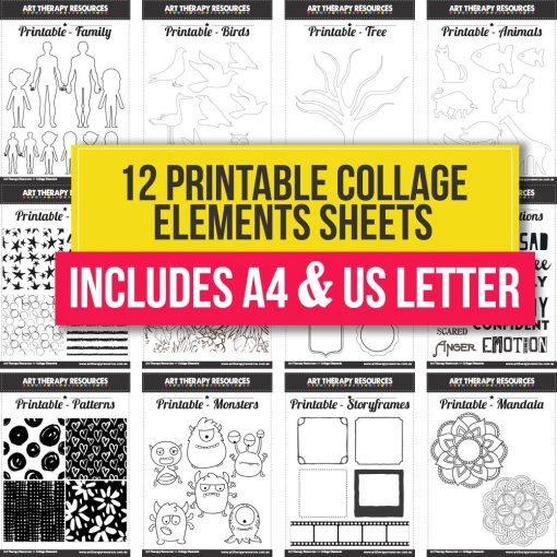 Printable Collage Elements Sheets 1