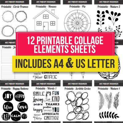 Printable Collage Elements Sheets 2