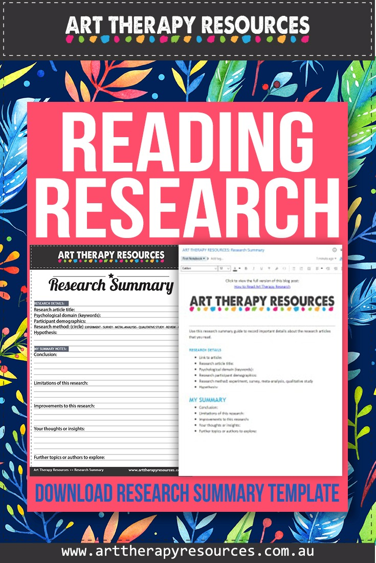 Art Therapy Research Summary