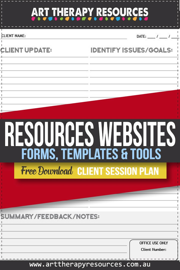 Therapy Resource Websites for Forms, Templates and Tools