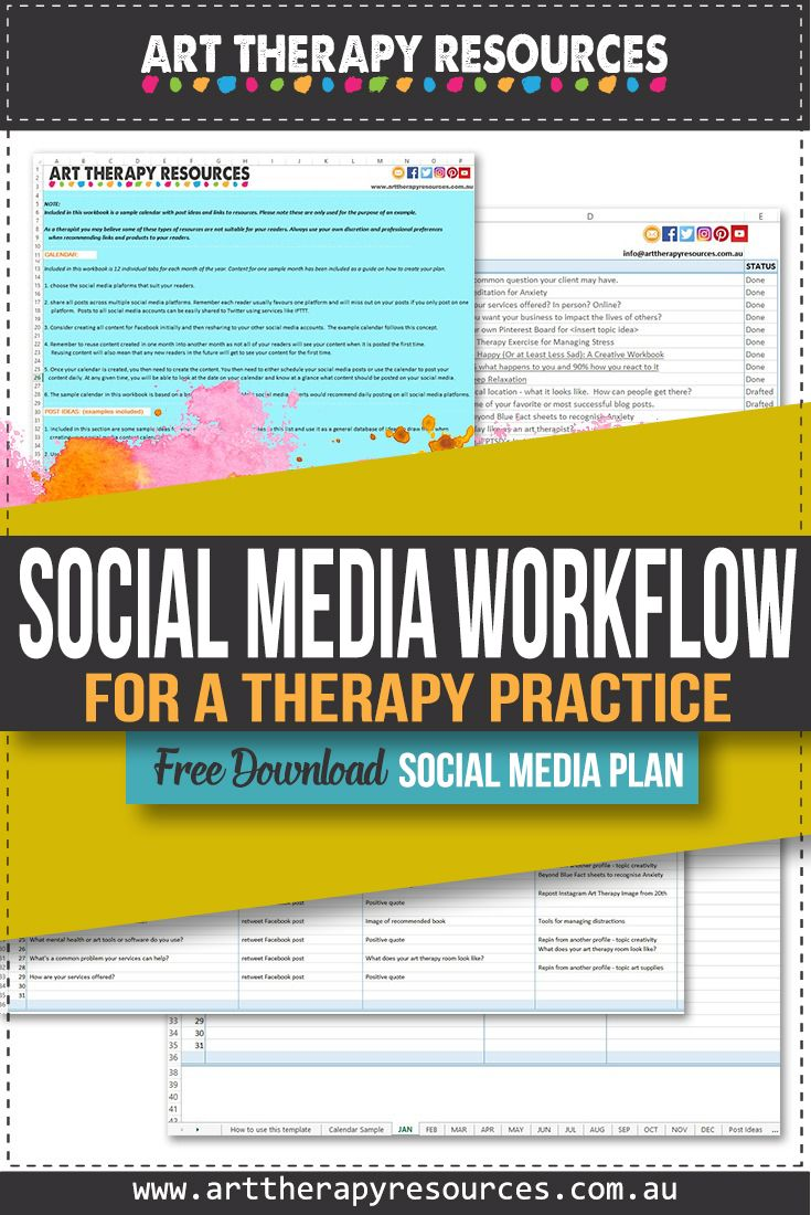Create a Social Media Workflow for a Therapy Practice