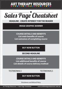 Ecourse Sales Page Cheatsheet