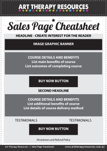 Ecourse Sales Page Cheatsheet