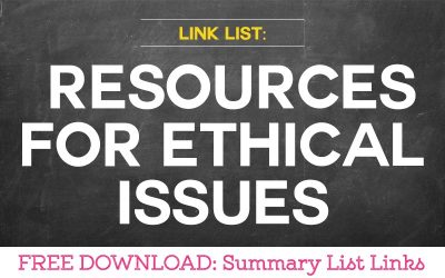 Link List: Where to Find Resources for Ethics Issues