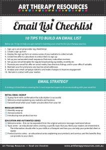 Email List Checklist