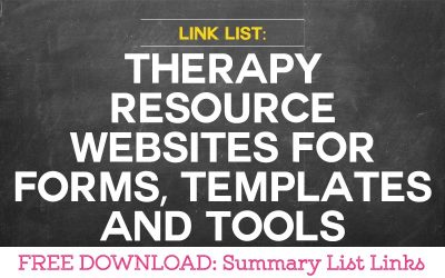 Useful Therapy Resource Websites for Forms, Templates and Tools