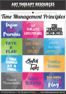 Art Therapy Time Management Principles