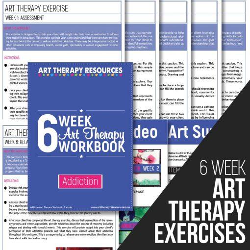 6 Week Art Therapy Addiction Workbook