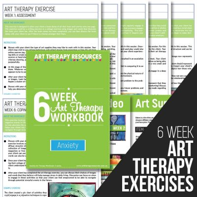 6 Week Art Therapy Anxiety Workbook