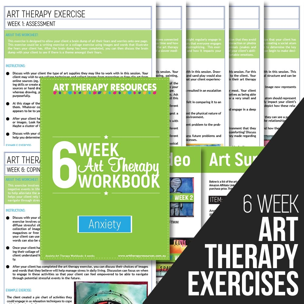 Workbooks best anxiety workbook : Anxiety Disorders - Art Therapy Resources