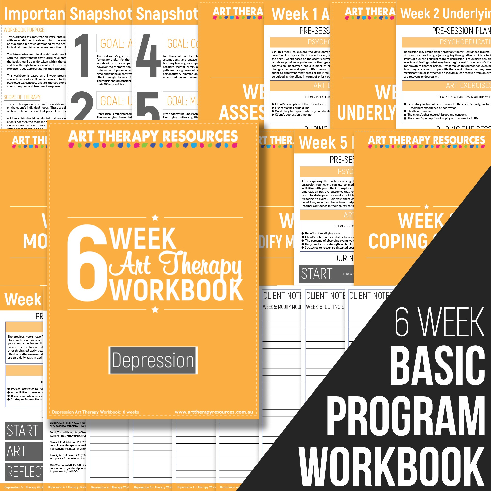 6 Week Art Therapy Addiction Workbook