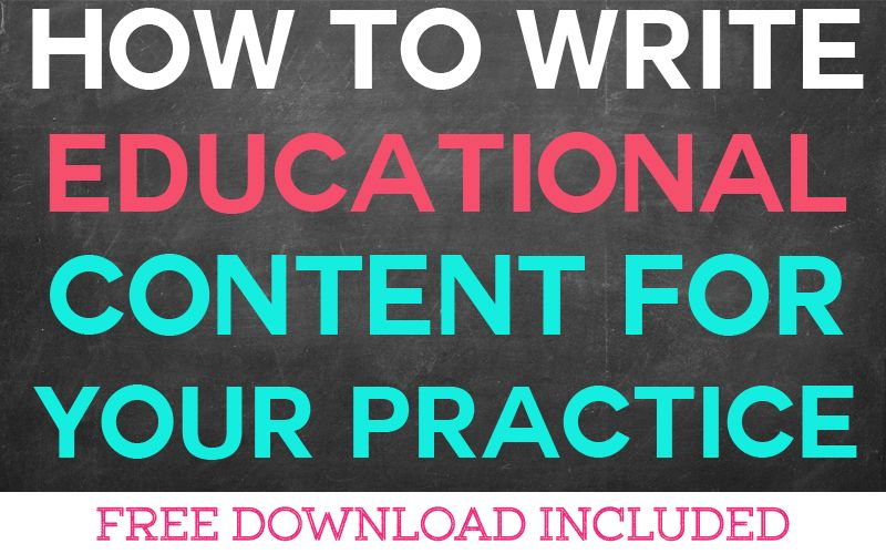 How to Write Educational Content for Your Therapy Practice